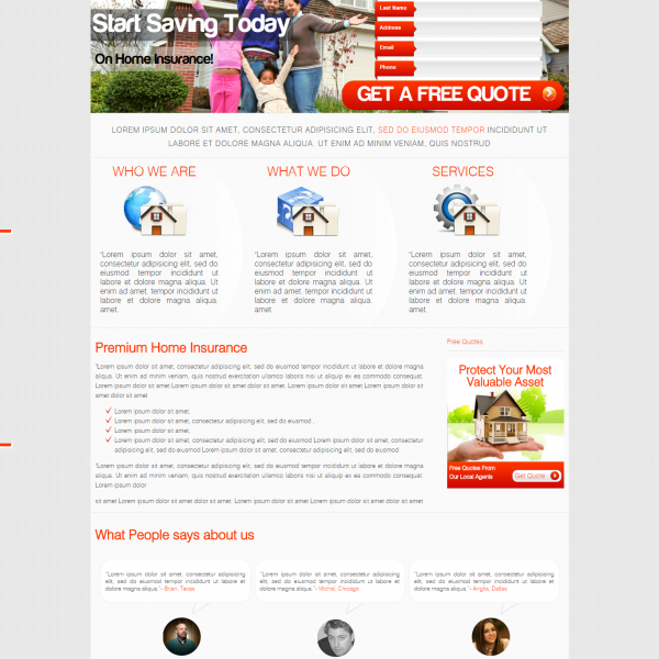 Home Insurance HTML Template